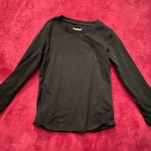 Basic black long sleeve shirt